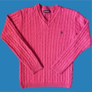 VTG Pink Ralph Lauren Cable Knit Sweater 💕💕